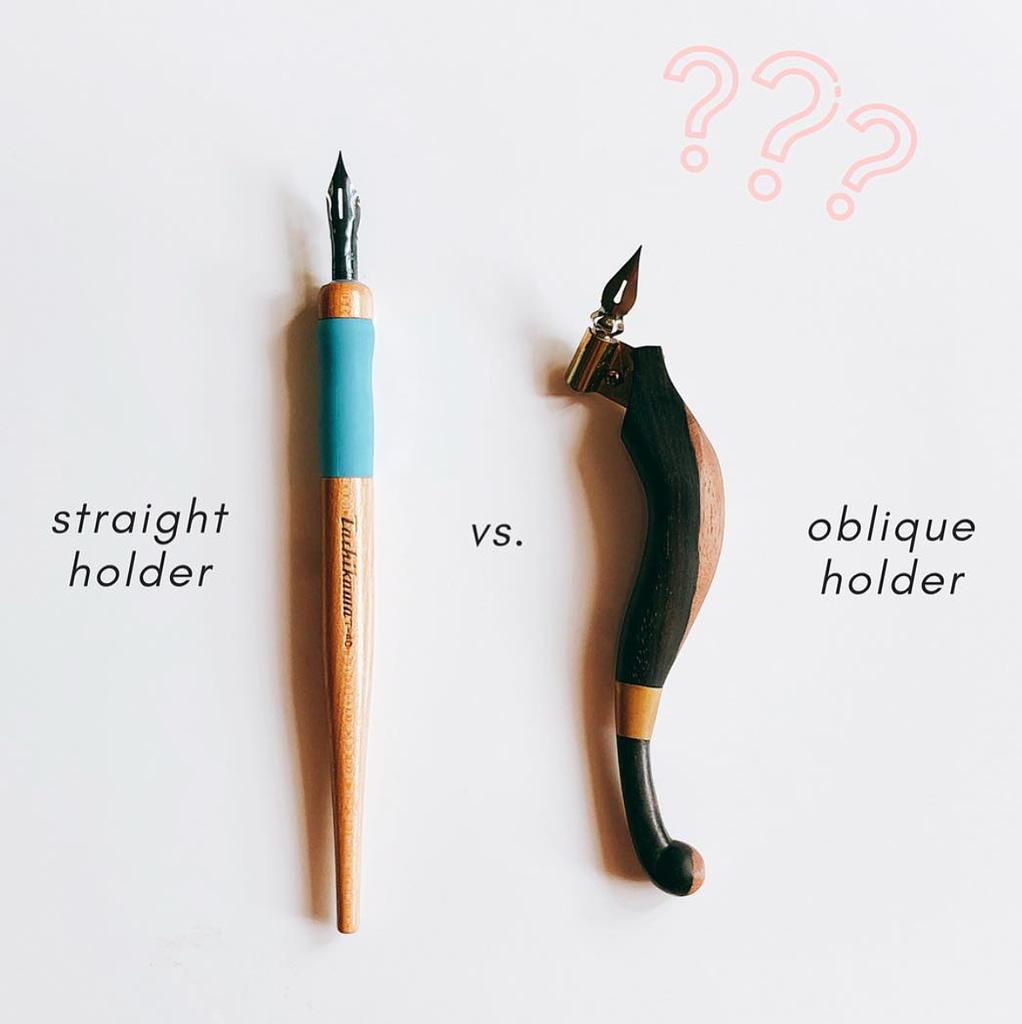 Calligraphy Guide: Straight vs Oblique Pen Holder