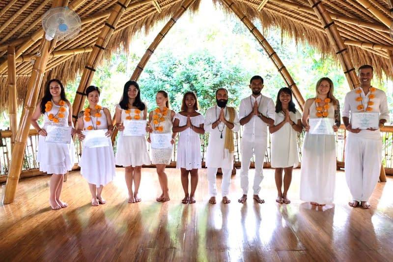 Yoga teacher graduation ceremony - My Power of Now Oasis Yoga Teacher Training in Bali