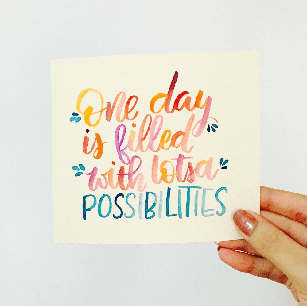 Watercolor and Brush Calligraphy - Social Media Burnout is Real
