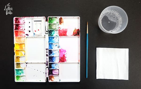 How to Use Masking Fluid for Brush Calligraphy