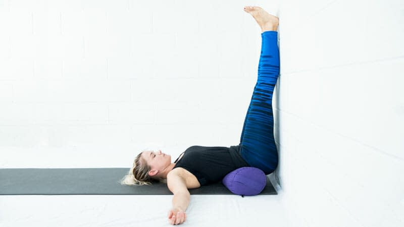 Legs Up the Wall Pose (Viparita Karani) - 9 Yoga Poses that Relieve Menstrual Cramps (With Variations)